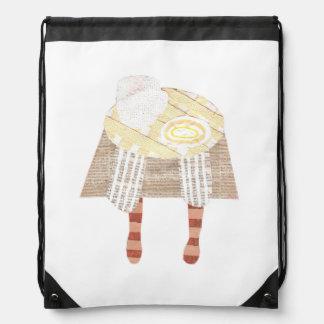Miss Coffee Drawstring Bag
