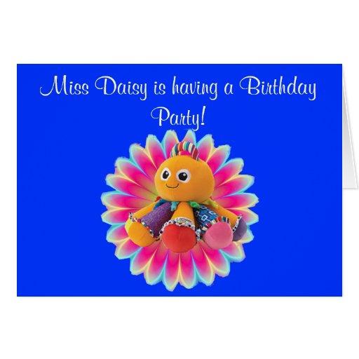 Miss Daisy the Octopus Birthday Card