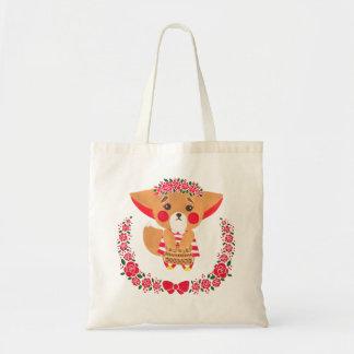 Miss Fennec Fox Budget Tote Bag