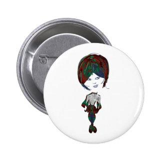 Miss-fit Emo Girl Digital Art 6 Cm Round Badge