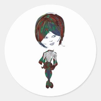 Miss-fit Emo Girl Digital Art Stickers