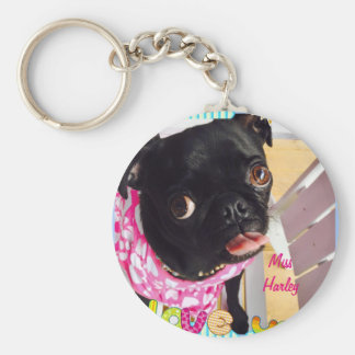 Miss Harley Loves You Basic Round Button Key Ring