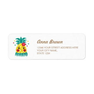 Miss Hawaiian Pineapple Return Address Label