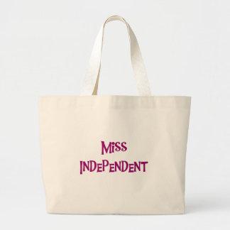 MISS INDEPENDENT JUMBO TOTE BAG
