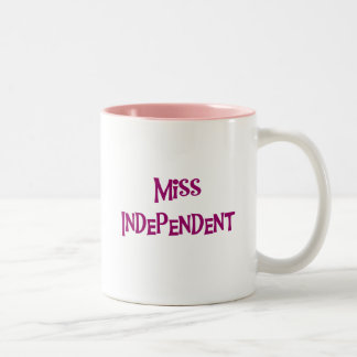 Miss Independent Tshirts and Gifts Two-Tone Coffee Mug