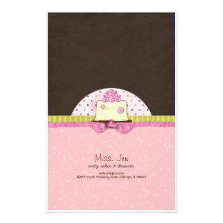 Miss. Jen Cake Candy Bar Wrappers Personalised Stationery