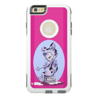 MISS KITTY CARTOON  Apple iPhone 6 Plus   CS WHITE