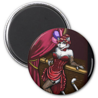 Miss Kitty Round Magnet