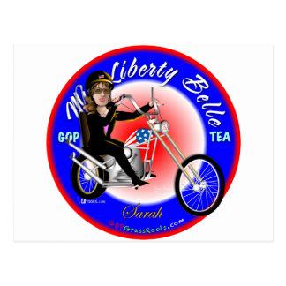 Miss Liberty Belle Postcard