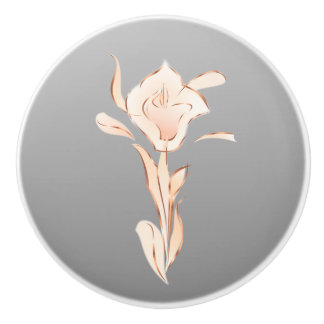 Miss Lilly rose Gold Gray Ceramic Knob