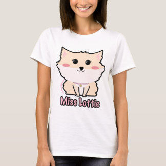 Miss Lottie The Pomeranian Women's- Violet LeBeaux T-Shirt
