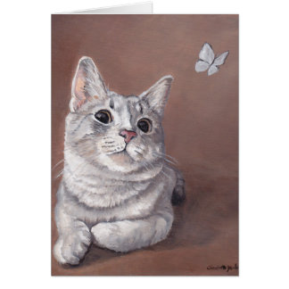 Miss Maggie Kitty Cat Art Note Card
