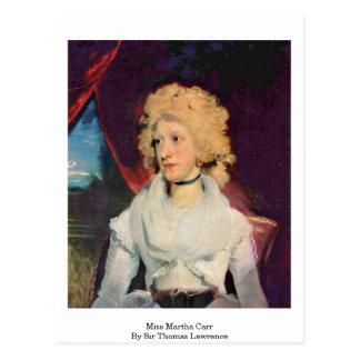 Miss Martha Carr By Sir Thomas Lawrence Postcard