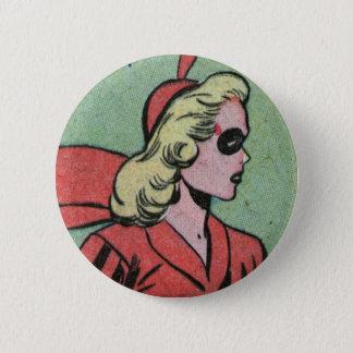 Miss Masque 6 Cm Round Badge
