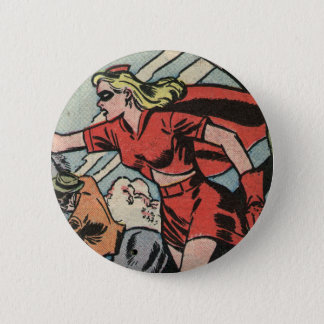 Miss Masque Leads The Charge 6 Cm Round Badge