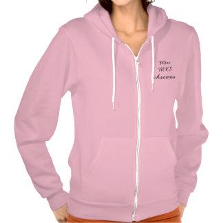 Miss MCS Awareness Pink Zip Fleece Hooded Hoodie