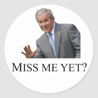 Miss Me Yet Square - White Classic Round Sticker