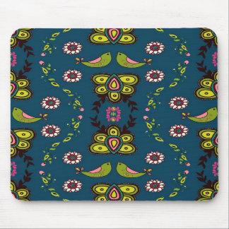 Miss Modd Love Birds Mouse Pad in Navy