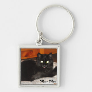 Miss Moo Album Silver-Colored Square Key Ring