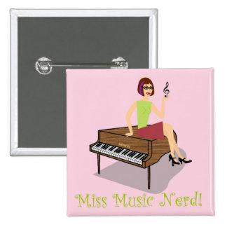 Miss Music Nerd Button