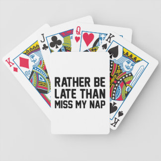 Miss My Nap Bicycle Playing Cards
