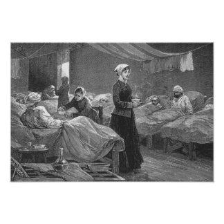 Miss Nightingale in the Barrack Hospital Poster