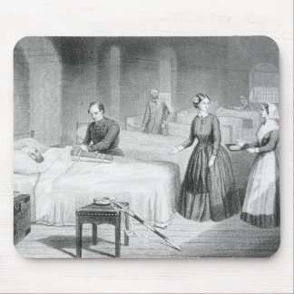 Miss Nightingale in the Hospital at Scutari, engra Mouse Pad