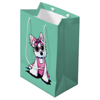 Miss Olivia Westie KiniArt Gift Bag