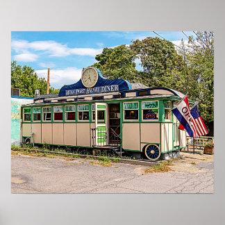 Miss Port Henry Diner, Port Henry, New York Poster