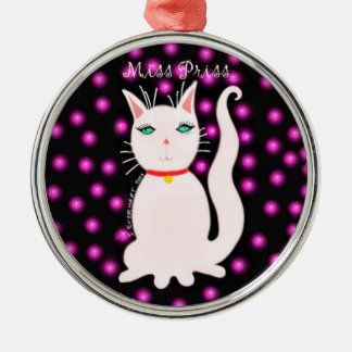 Miss Priss Round Ornament by Julie Everhart