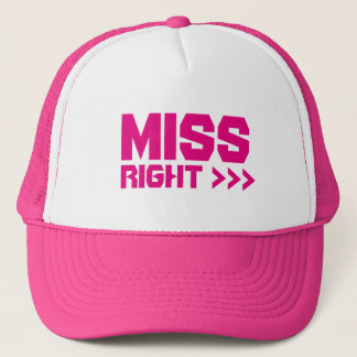 Miss Right Arrows Self-Esteem Summer Party Cap