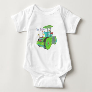 Miss Rollee construction vehicle road roller the Baby Bodysuit