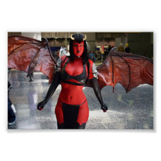 "Miss Rose Noir as ""Purgatori"" with wing span Poster"