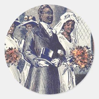 Miss Samantha Johnson's Wedding Classic Round Sticker