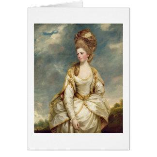 Miss Sarah Campbell, 1777-78 (oil on canvas) Card
