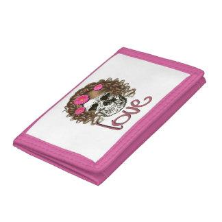 Miss Skull Tri-fold Wallets