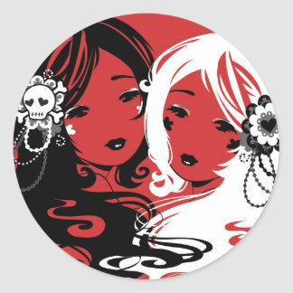 Miss Sugar and Miss Cyanide Stickers