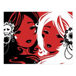 Miss Sugar & Miss Cyanide Postcard