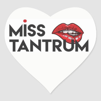 Miss Tantrum Heart Sticker