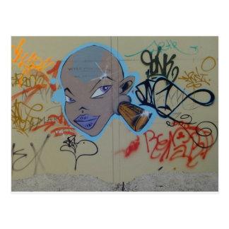 Miss Thing Graffiti Postcard