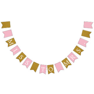 Miss to Mrs. Bridal Shower Banner Bunting