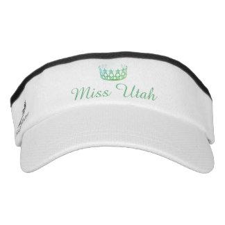 Miss USA Aqua Green Crown Visor  Hat