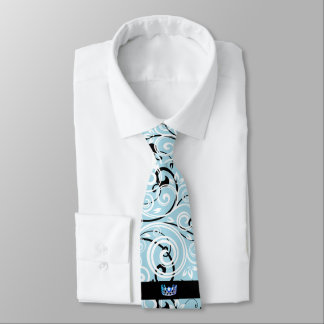 Miss USA Blue Crown Men's Flourish Tie