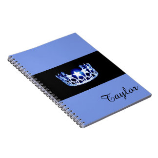Miss USA Blue Crown Notebook- Custom Name Notebook