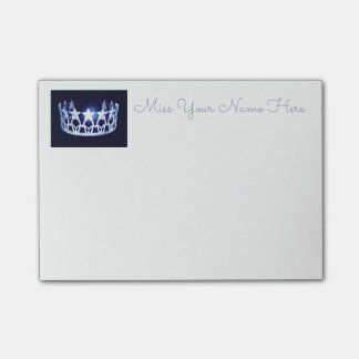 Miss USA Blue Crown Post-it-Notes Post-it Notes