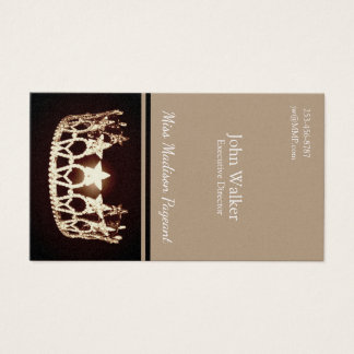 Miss USA Gold Crown Business Cards
