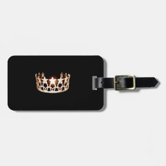 Miss USA Gold Crown Luggage Tag