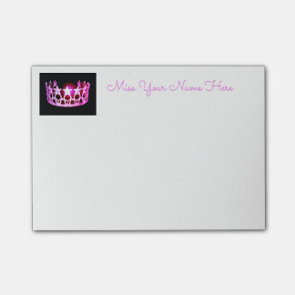 Miss USA Hot Pink Crown Post-it-Notes Post-it Notes