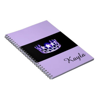 Miss USA Lavender Crown Notebook- Custom Name Notebook