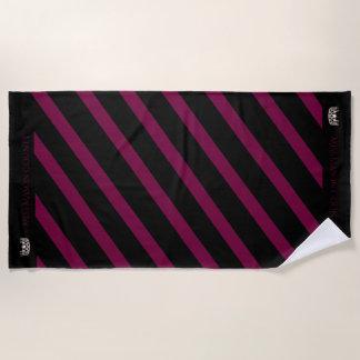 Miss USA Merlot Wine Stripe Crown Beach Towel